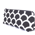 Black and White Fish Scale Make-up Zipper Pouch // Stationery Pencil Case