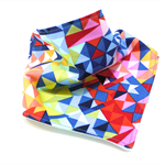 Bandana bib baby dribble bibs babies girl girls boy boys unisex geometric blue