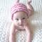 Rose Petal Hat / Beanie/ 3-6 Months / Photography Prop / Soft Pink