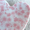 Pink floral porcelain ring dish. Heart. Ring pillow. Candle holder. Ceramic.