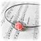 SALE Headband. Metal. Joleen. Filigree. Flower. Coral Red. Alice Band.