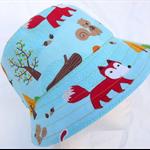 Woodland Animals Reversible Bucket Hat