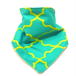 Bandana bib baby dribble bibs moroccan blue neon babies boy boys girl girls