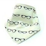 Bandana bib baby dribble bibs hipster glasses babies white boys boy girl girls