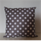 Grey & White Spot Cushion cover - size 16