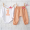 Girl's 1st Birthday Outfit - harems, onesie, peach, baby, birthday, first, gold