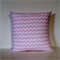 Cushion Cover - Baby Pink & White Chevron