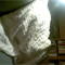 Wool mix knitted throw