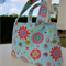 Girls Sweet Blue Flower and Butterfly Bag