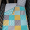 Cot/Toddler Quilt - Grey, Aqua & Yellow