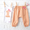 Girl's 1st Birthday Outfit - harems, singlet, peach, baby, birthday, first, gold