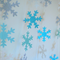 Snowflakes and sparkles! Frozen inspired paper garland!