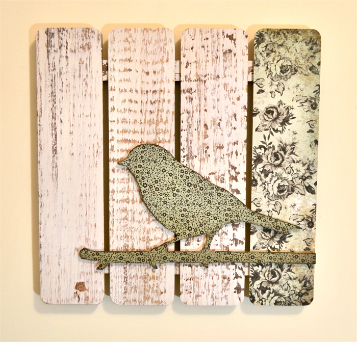 Wooden 3d Wall Art Bird On A Twig Vicky Pedlow Designs