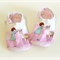 Toddler slippers soft soled (girl with deer)