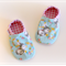 Toddler slippers soft soled (bunny with butterfly)