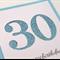 Handmade Card - Blue Glitter 30