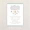 Neutral Baby Shower Invitation. Rainbow cloud. I Customise, You Print