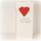 Personalised Wedding card for money, voucher, gift card, wishing well red roses