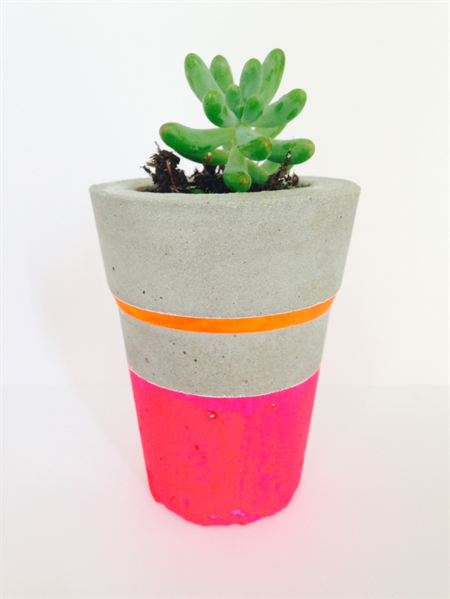 Concrete cement tea light candle or plant pot handmade for Homewares decorative items