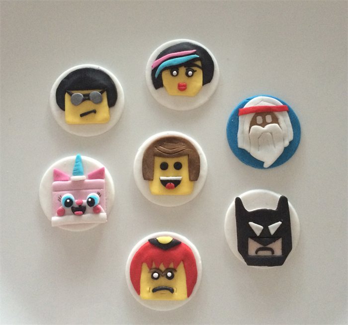 how to make lego cupcake toppers