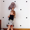 60 Polka Dot Wall Decal Stickers - Choose your Colour