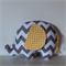 Large Elephant Softie - Grey & White Chevron & Yellow Spot
