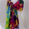 brights nuno felted wool silk lightweight summer scarf wrap by plumfish