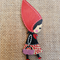Little Red Riding Hood Painted Wood Brooch
