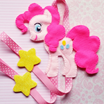 Pinkie Pie My Little Pony Hair Clip Holder