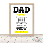 Dad Father Customisable Print Wall Art