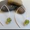 Argentium Sterling Silver range - lime green Czech glass bead earrings