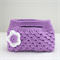 Little Girl's Satin Lined Crocheted Bag - Lilac