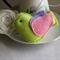 Lime Felt Bird Decoration