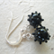 """Black """"jewelled"""" Czech Lampwork glass, Sterling Silver, dangle earring"""