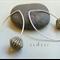 Argentium Sterling Silver range - safari brown stripe glass bead earrings