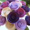 Pink, Purple and Cream Paper Roses / Paper Flowers