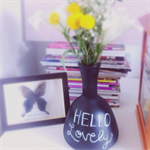 Up cycled blackboard vase