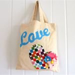 Lil Birdie Small Tote Bag Multi Spot in Love Gift Bag storage