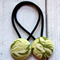 Green Floral Hair Ties