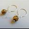 Argentium Sterling Silver range - mottled tortoise shell Czech bead earrings