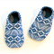 Toddler slippers soft soled (aztec denim unisex boy girl)