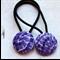 Purple Mosaic Hair Ties