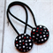 Black with Red, Grey and White Spots Hair Ties