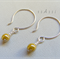 Argentium Sterling Silver range - caramel lustre Czech glass bead earrings