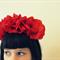 Frida-Style Flower Headband - 'Poppy' -  floral crown, costume, wedding