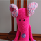 Mindy the ballerina mouse in pinks, white & grey: safe, OOAK, washable,