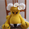 Leonnie the lioness in mustard yellow: OOAK, washable by CuddleCorner
