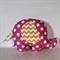 Large Elephant Softie - Hot Pink Spot & Yellow Chevron