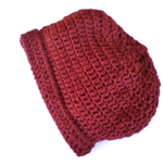 Medium slouchy beanie crocheted wool winter hat