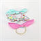 Dolly Bow Hair Ties - Dots - Watercolour Floral Print - Pink Aqua Gold